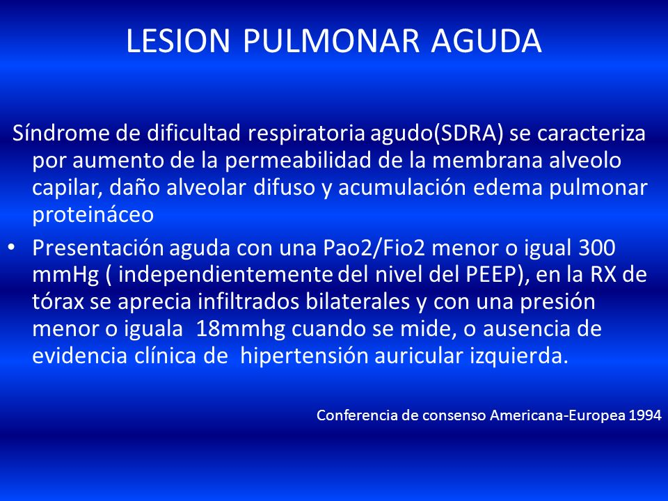 LESION PULMONAR AGUDA