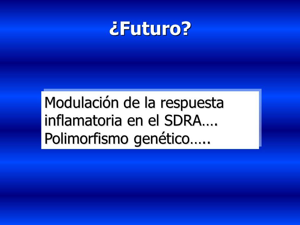 ¿Futuro Modulación de la respuesta inflamatoria en el SDRA….
