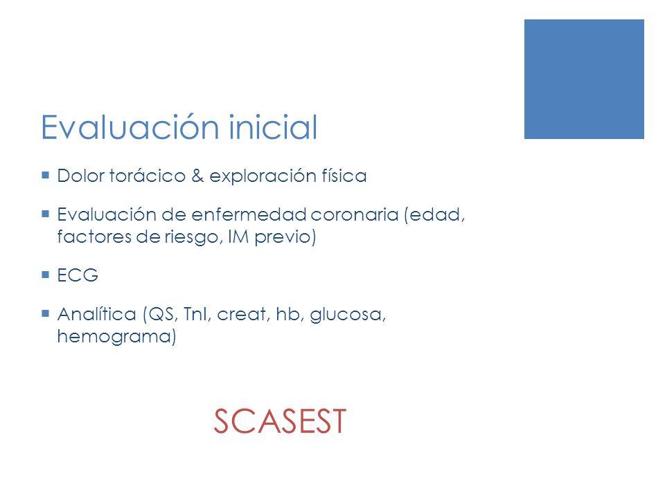 Evaluación inicial SCASEST Dolor torácico & exploración física