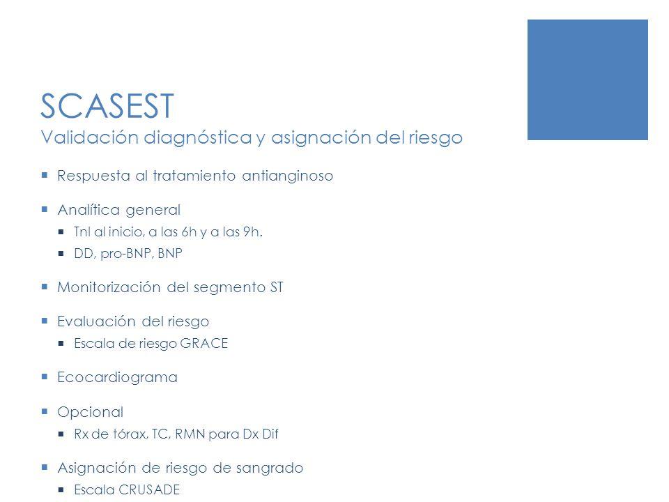 SCASEST Validación diagnóstica y asignación del riesgo