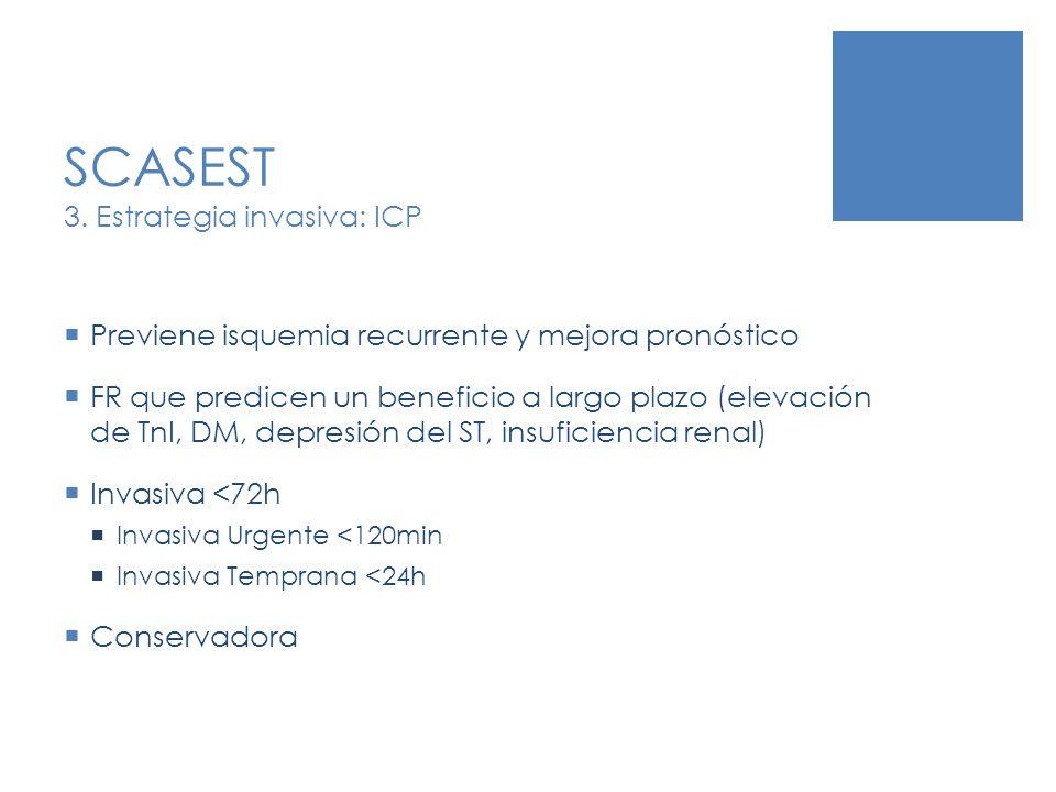 SCASEST 3. Estrategia invasiva: ICP