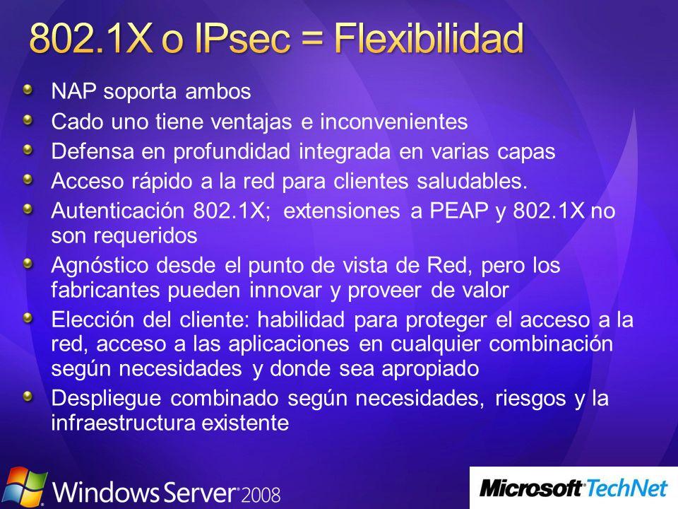 802.1X o IPsec = Flexibilidad