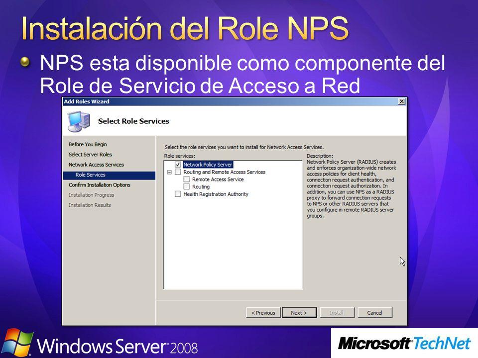 Instalación del Role NPS