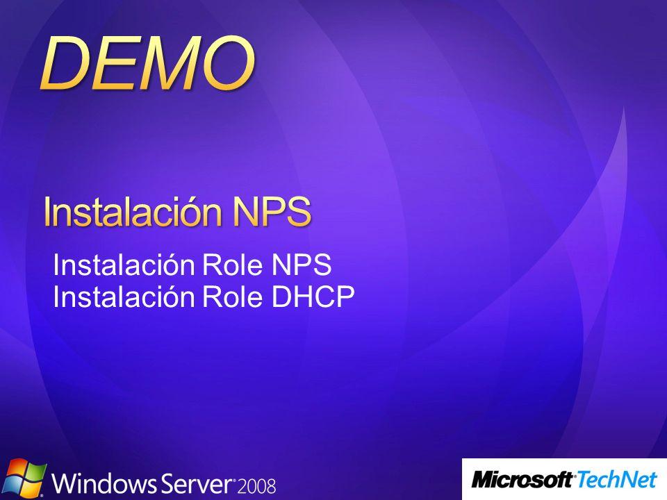 Instalación Role NPS Instalación Role DHCP