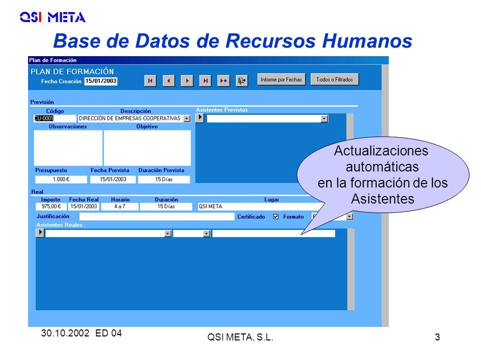 Base de Datos de Recursos Humanos