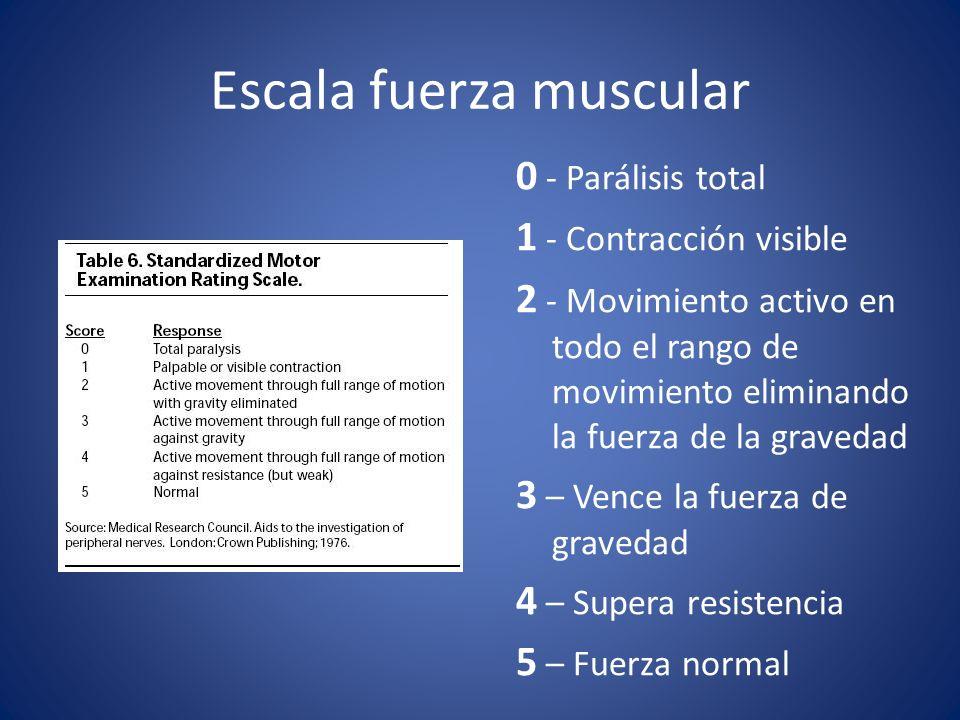 Escala fuerza muscular