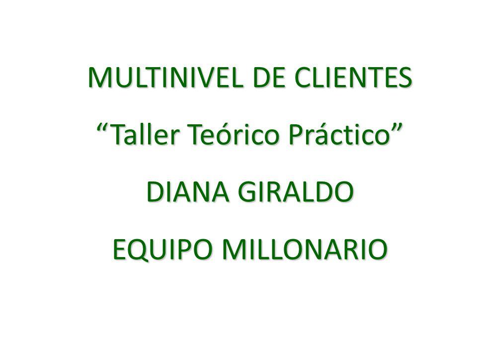 MULTINIVEL DE CLIENTES Taller Teórico Práctico DIANA GIRALDO
