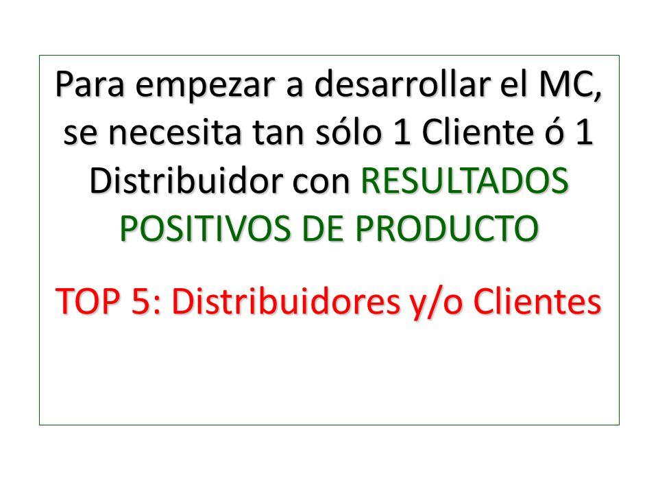 TOP 5: Distribuidores y/o Clientes