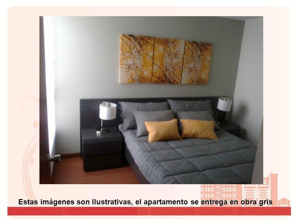 Estas imágenes son Ilustrativas, el apartamento se entrega en obra gris