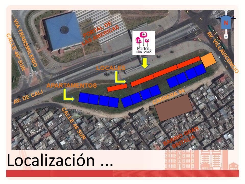 Localización ... N LOCALES APARTAMENTOS PORTAL DE LAS AMERICAS