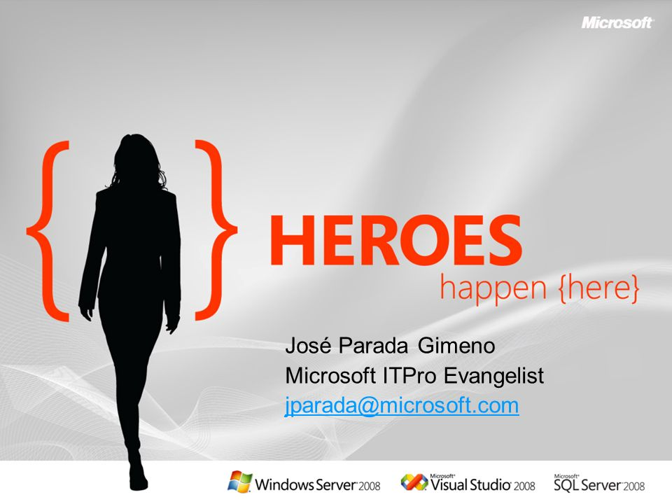 Microsoft ITPro Evangelist jparada@microsoft.com