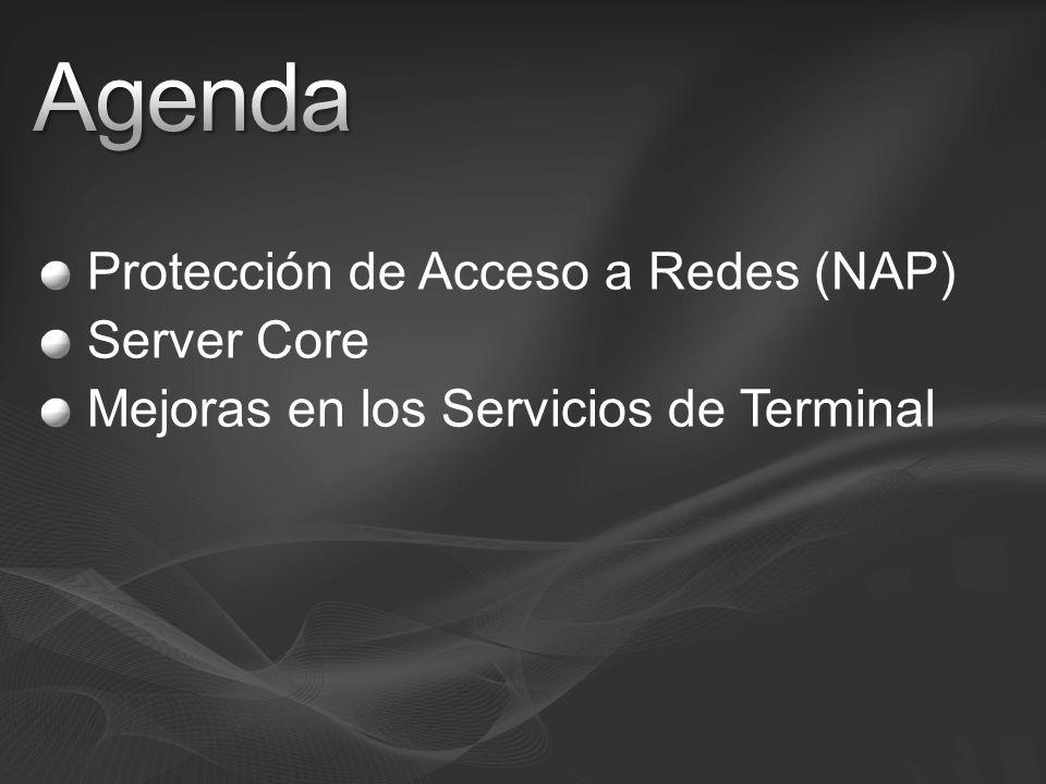 Agenda Protección de Acceso a Redes (NAP) Server Core