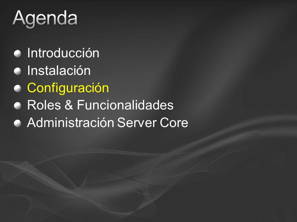 Agenda Introducción Instalación Configuración Roles & Funcionalidades