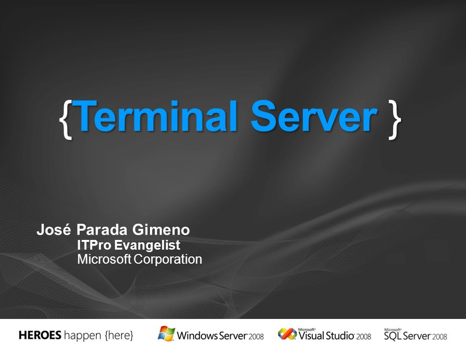 José Parada Gimeno ITPro Evangelist Microsoft Corporation
