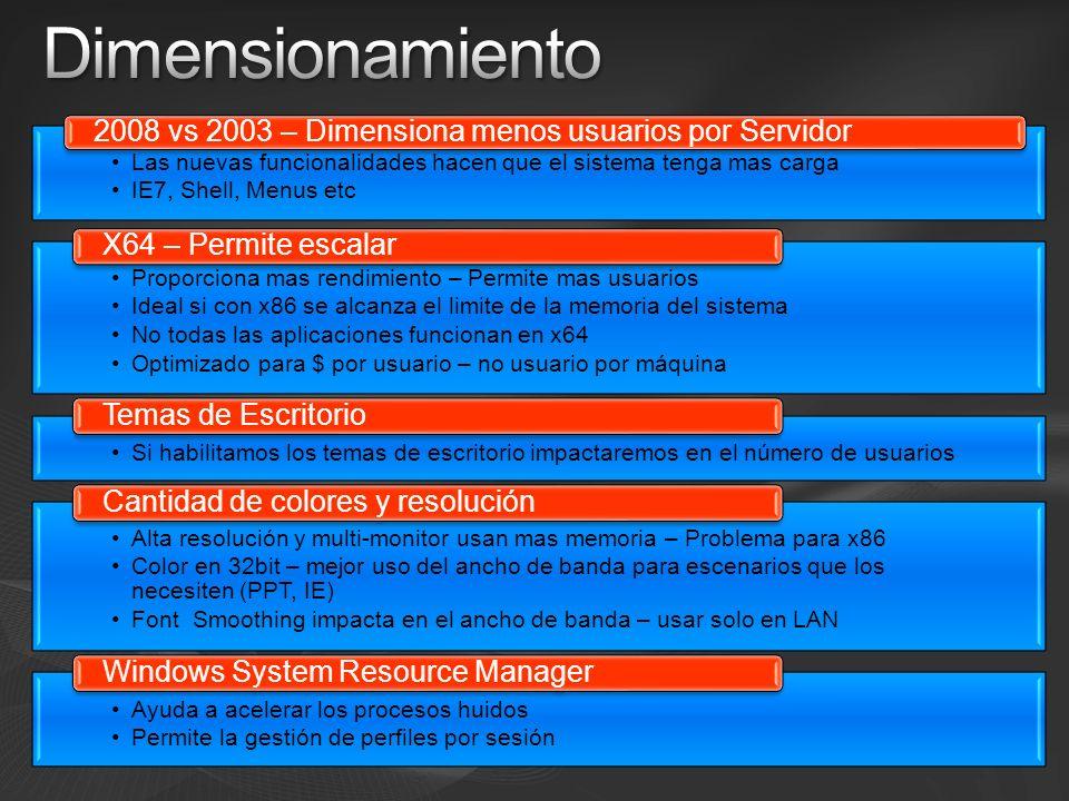 Dimensionamiento 2008 vs 2003 – Dimensiona menos usuarios por Servidor