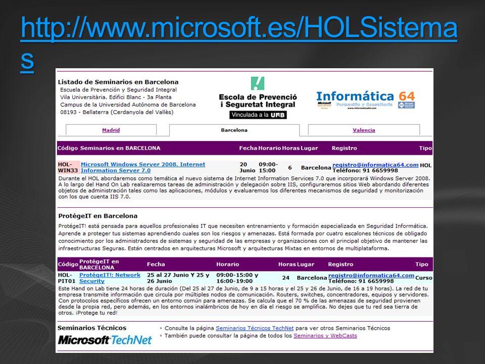 http://www.microsoft.es/HOLSistemas