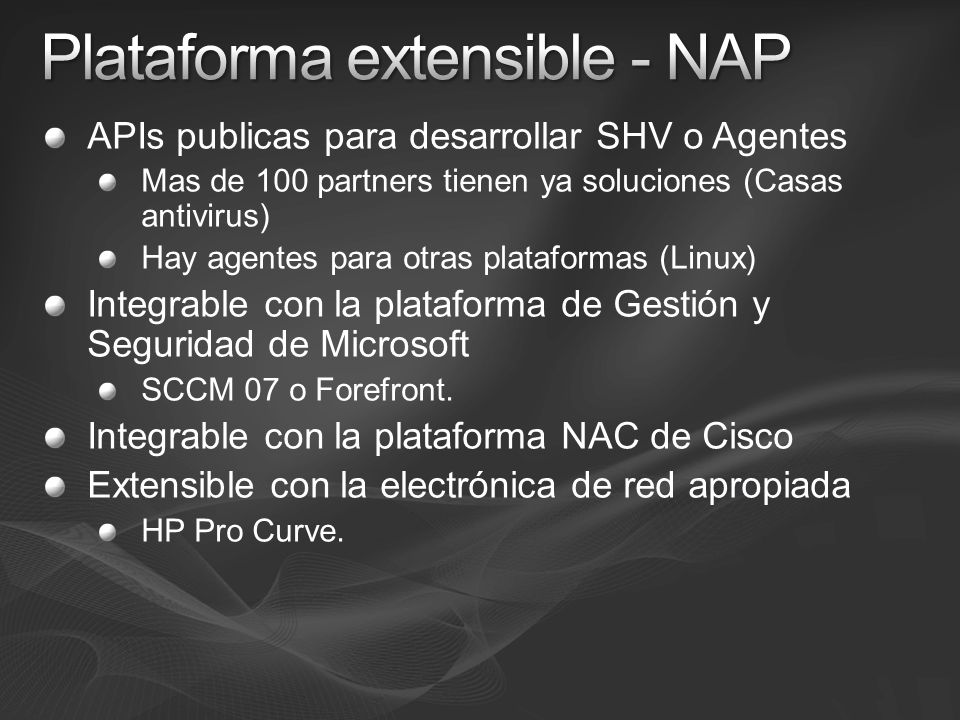 Plataforma extensible - NAP