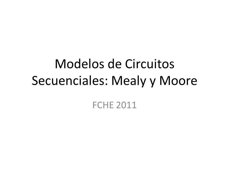 Modelos de Circuitos Secuenciales: Mealy y Moore