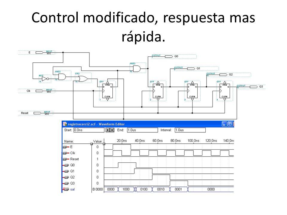 Control modificado, respuesta mas rápida.