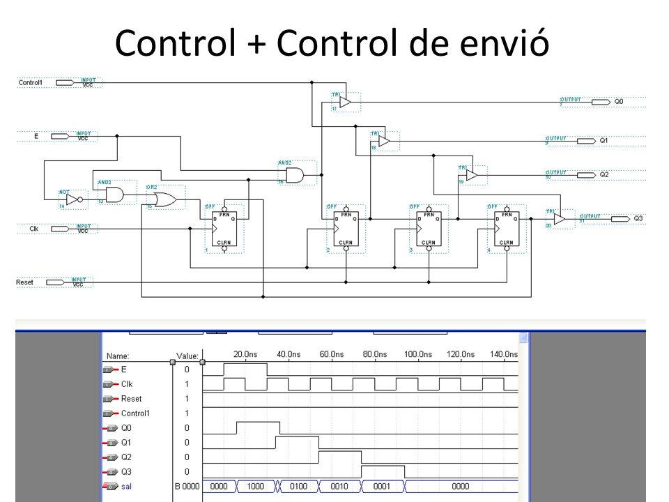 Control + Control de envió