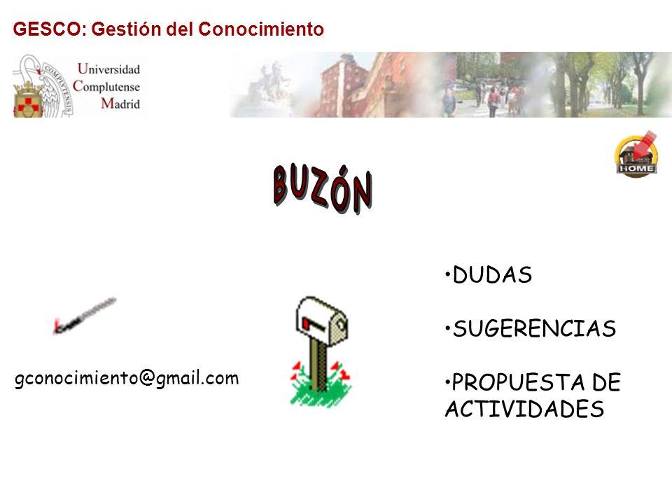 BUZÓN DUDAS SUGERENCIAS PROPUESTA DE ACTIVIDADES