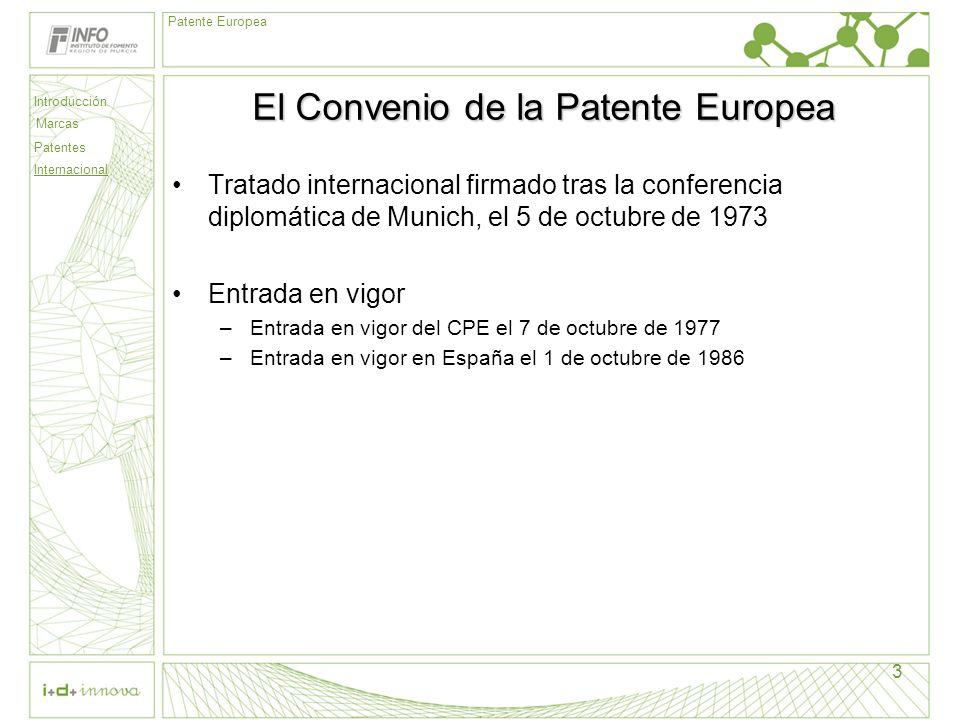 El Convenio de la Patente Europea