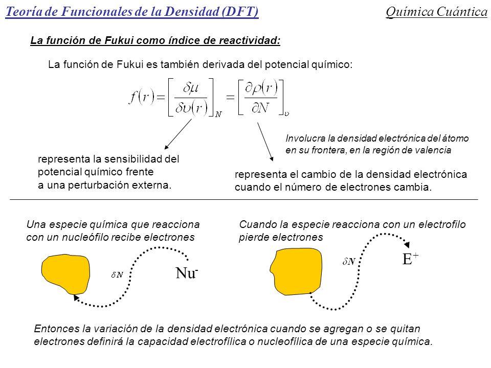 E+ Nu- Teoría de Funcionales de la Densidad (DFT) Química Cuántica