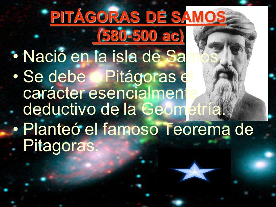 PITÁGORAS DE SAMOS (580-500 ac)