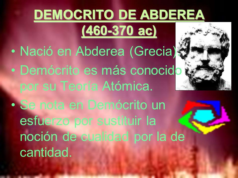 DEMOCRITO DE ABDEREA (460-370 ac)