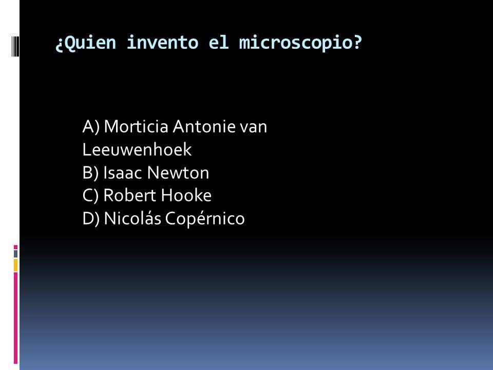 ¿Quien invento el microscopio