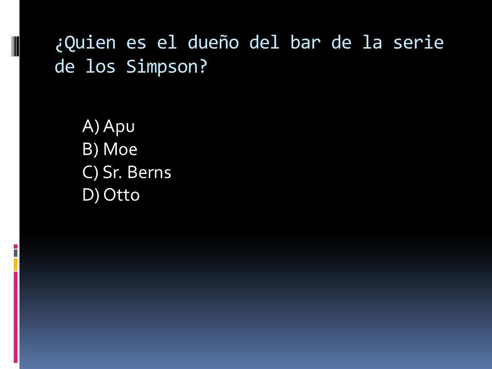 ¿Quien es el dueño del bar de la serie de los Simpson