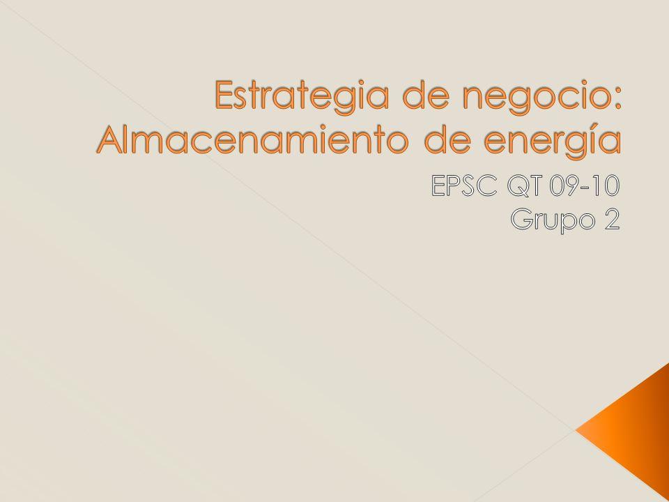 Estrategia de negocio: Almacenamiento de energía