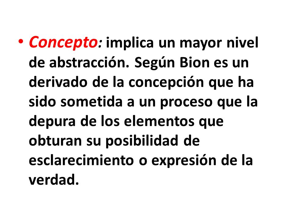 Concepto: implica un mayor nivel de abstracción