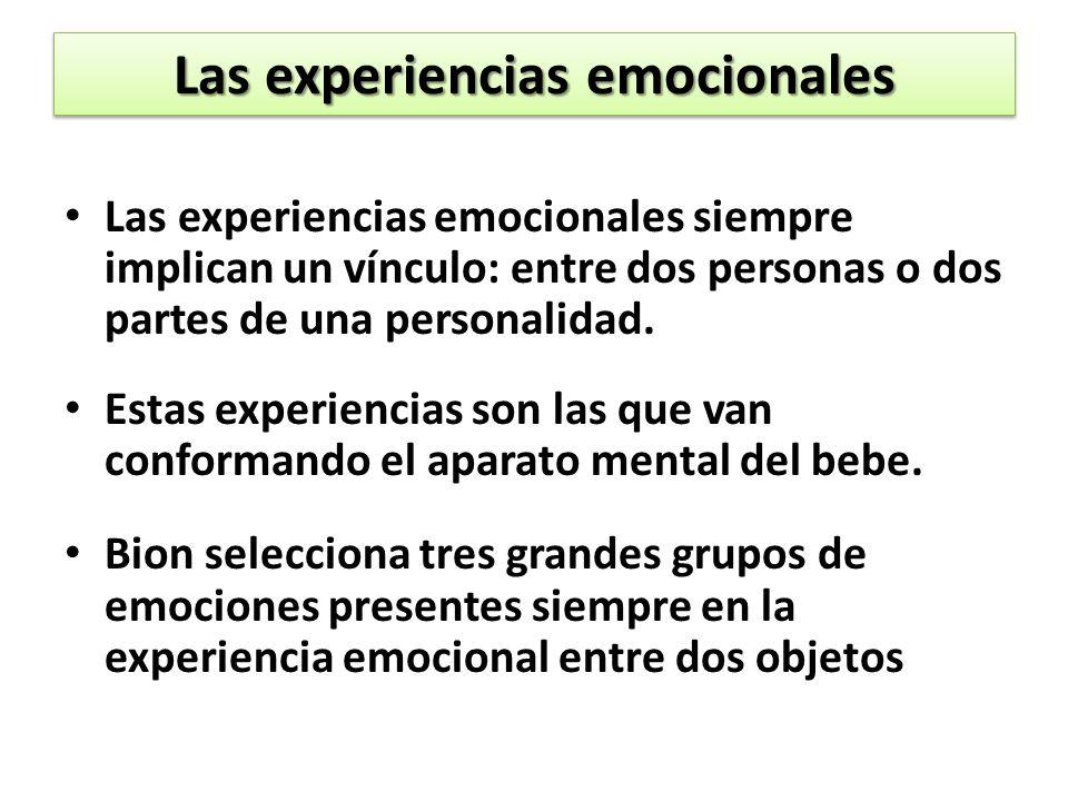 Las experiencias emocionales