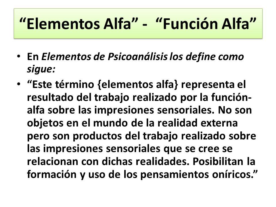 Elementos Alfa - Función Alfa