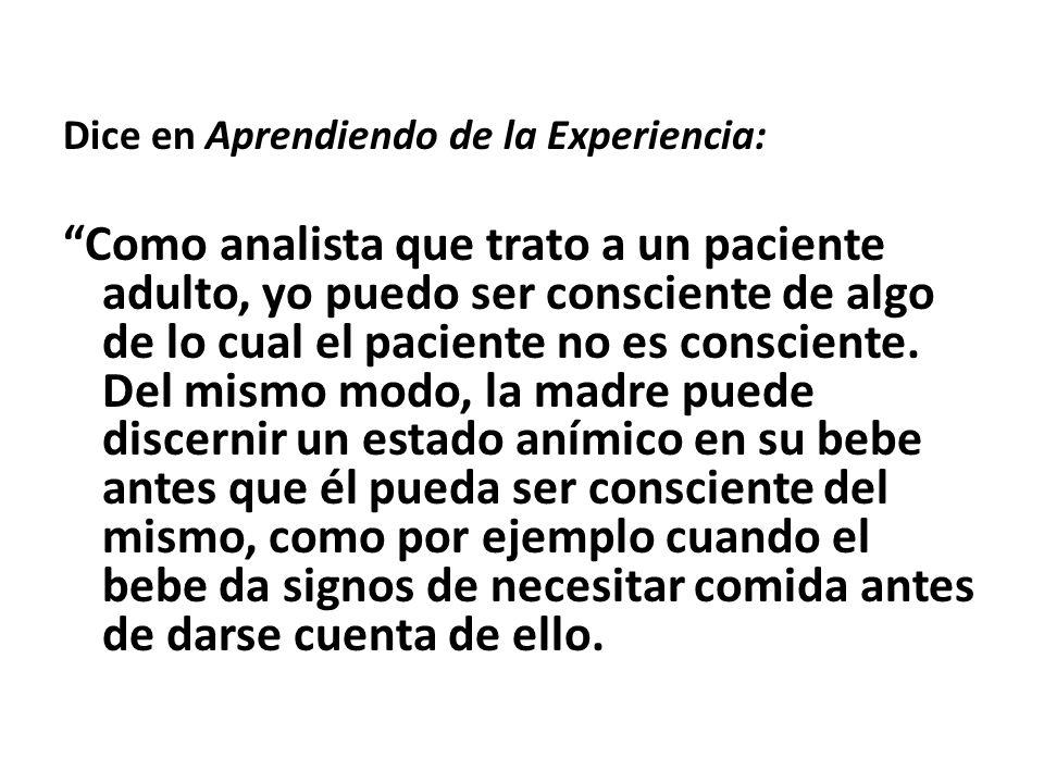 Dice en Aprendiendo de la Experiencia: