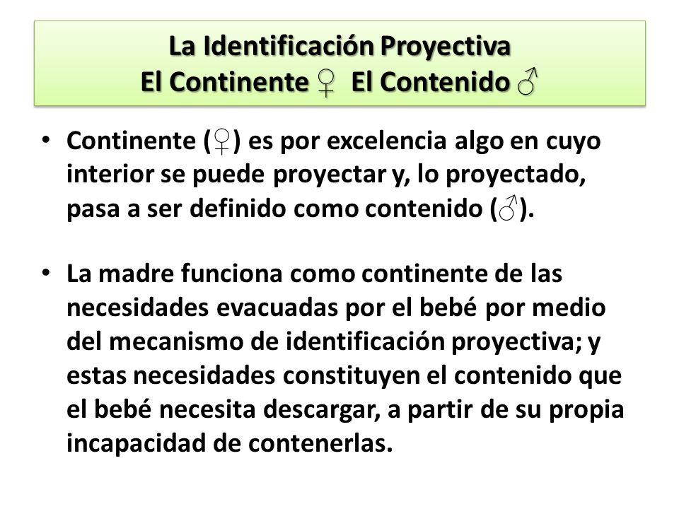La Identificación Proyectiva El Continente ♀ El Contenido ♂