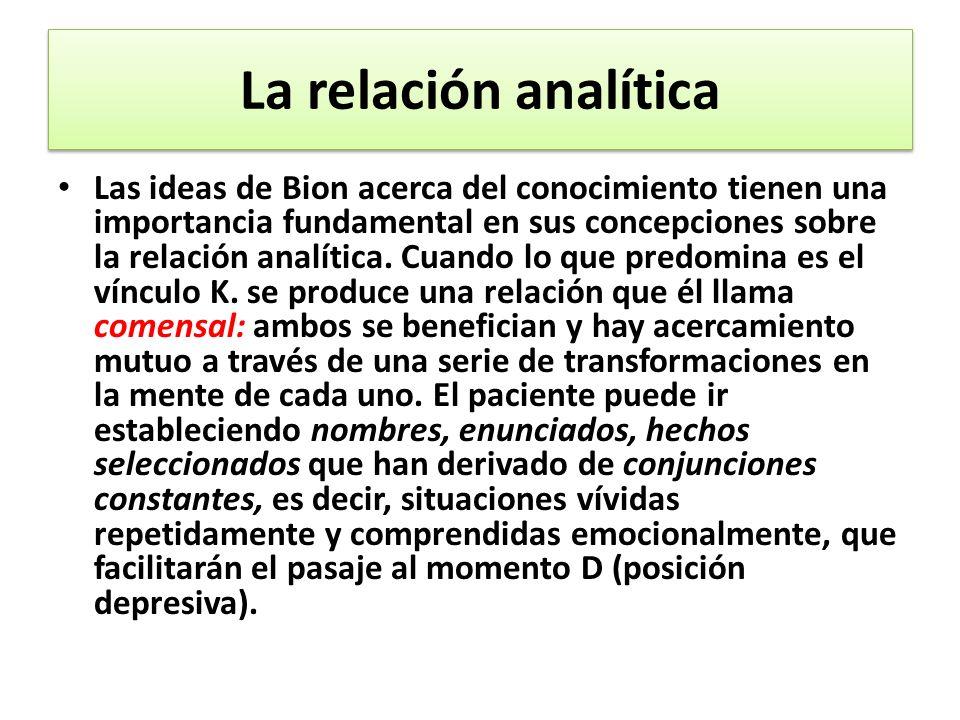 La relación analítica