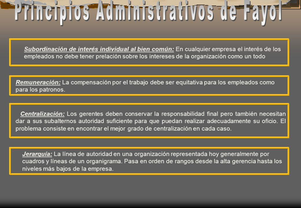 Principios Administrativos de Fayol