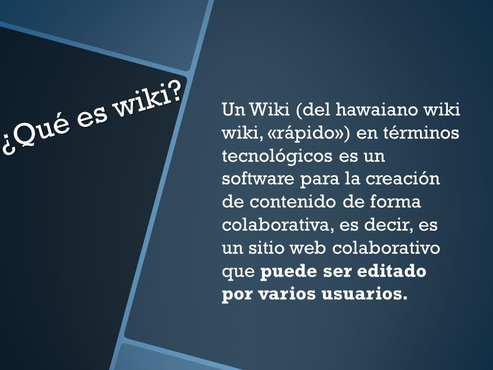 ¿Qué es wiki