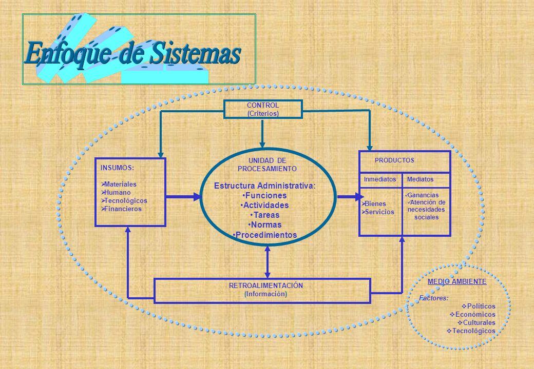 Estructura Administrativa: Atención de necesidades sociales