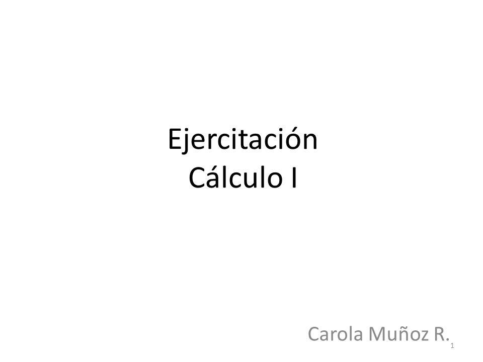 Ejercitación Cálculo I