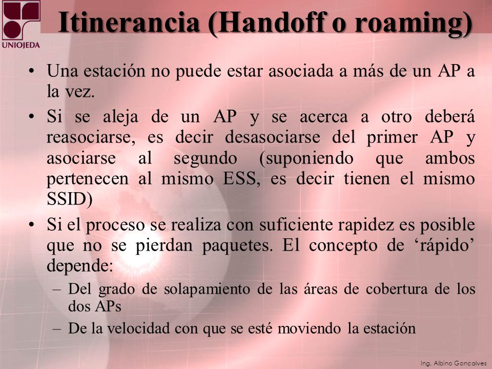 Itinerancia (Handoff o roaming)
