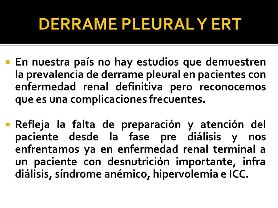 DERRAME PLEURAL Y ERT