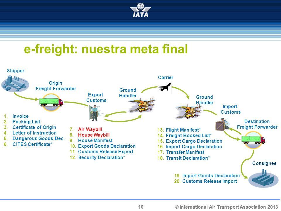 e-freight: nuestra meta final