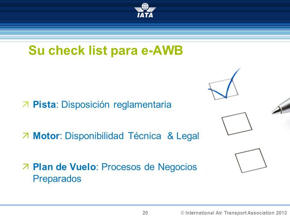 Su check list para e-AWB