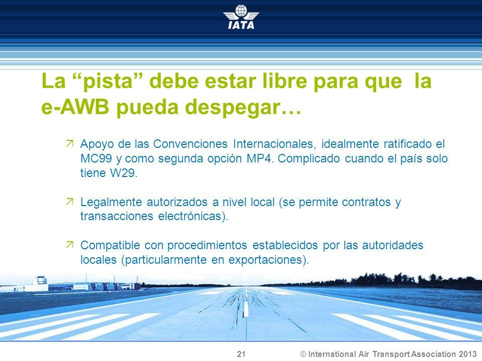 La pista debe estar libre para que la e-AWB pueda despegar…