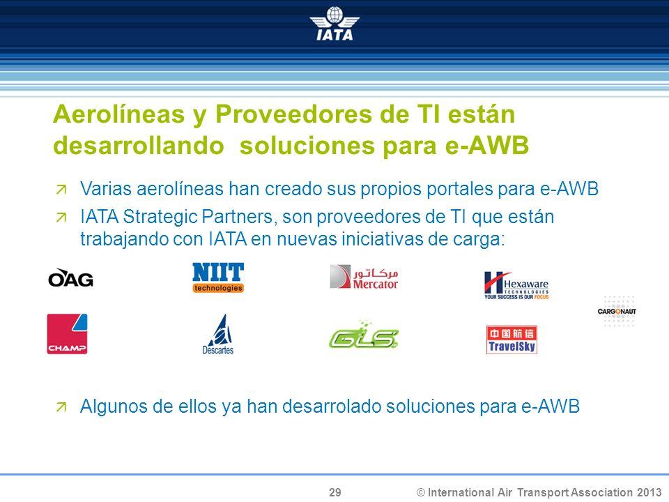 Aerolíneas y Proveedores de TI están desarrollando soluciones para e-AWB