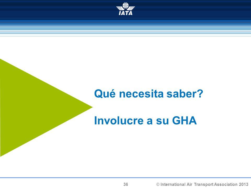 Qué necesita saber Involucre a su GHA