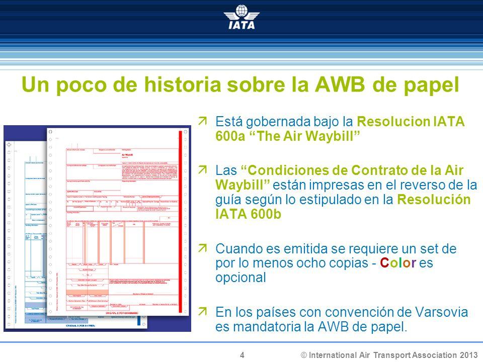 Un poco de historia sobre la AWB de papel